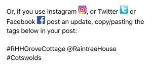 How this business asked us to share on social media