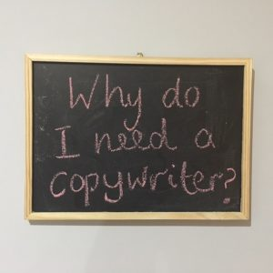 Why do I need a copywriter question